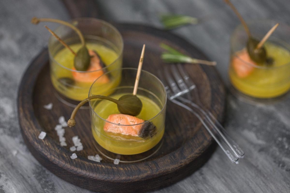 жареная семга в имбирном соусе